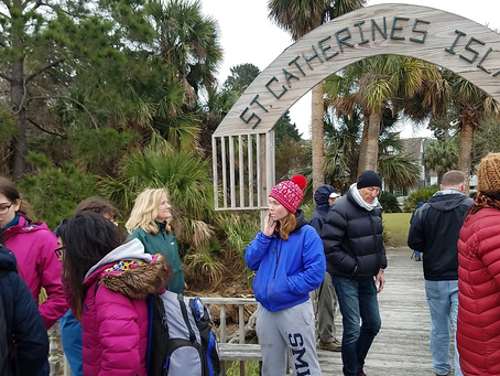 Visiting St Catherine's Island with teachers and girls from Smith College to fly drones