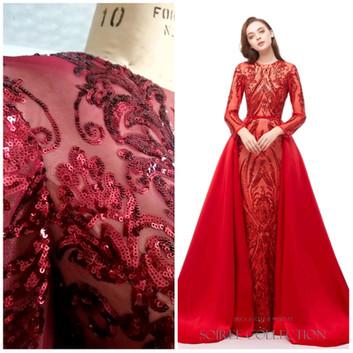 Red Sequin Dress - EAZH003-2