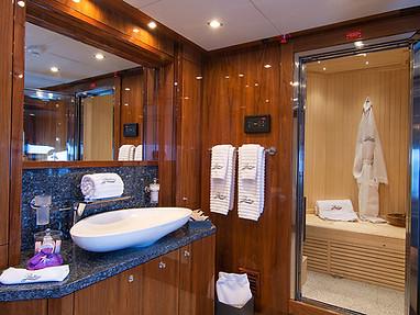Upper Deck Suite Bathroom and Sauna