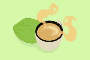 Coconut Truffle Ghost-tea