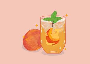 Peach Iced Ghost-tea