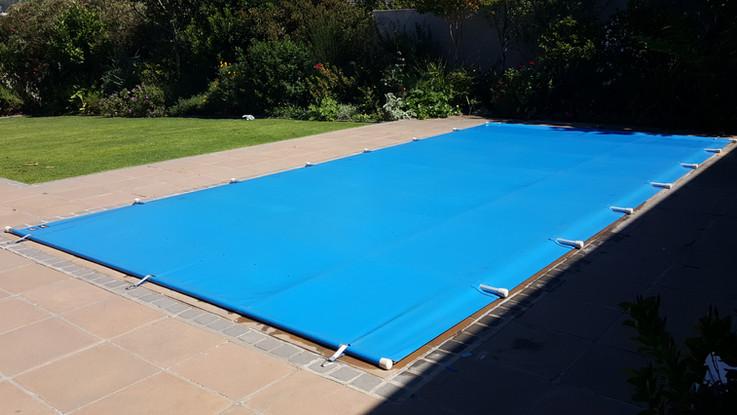 PVC, black blue, pool cover