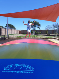 jumping pillow, PVC coated material