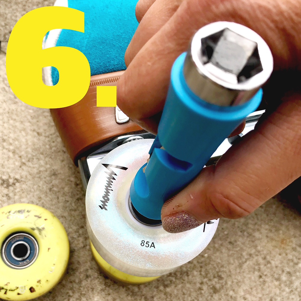 Tighten the nuts with your skate tool.
