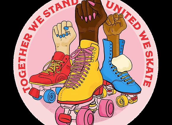 United we skate - 8cm vinyl sticker