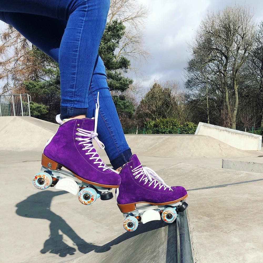 Fundae at the skatepark.