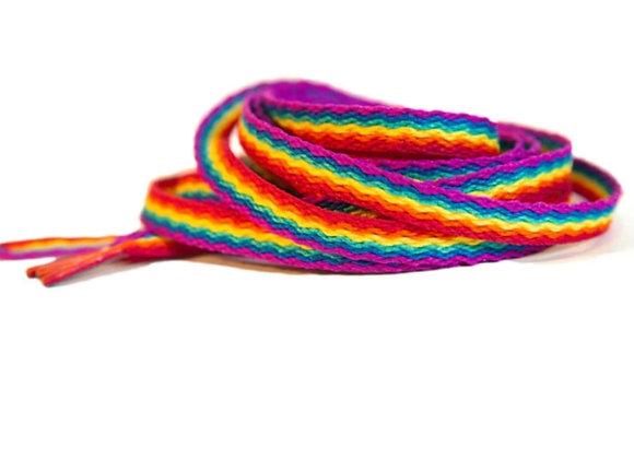 """Rainbow Bubble Laces 72"""""""