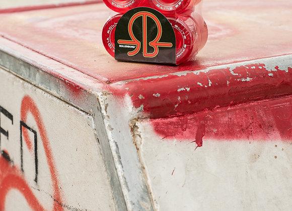 Rollerbones Art Elite - Clear Red (pack of 8)