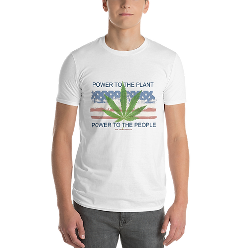 Power to the Plant Power to the People Mens T-Shirt