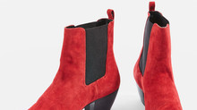 Topshop Red Suede Boots