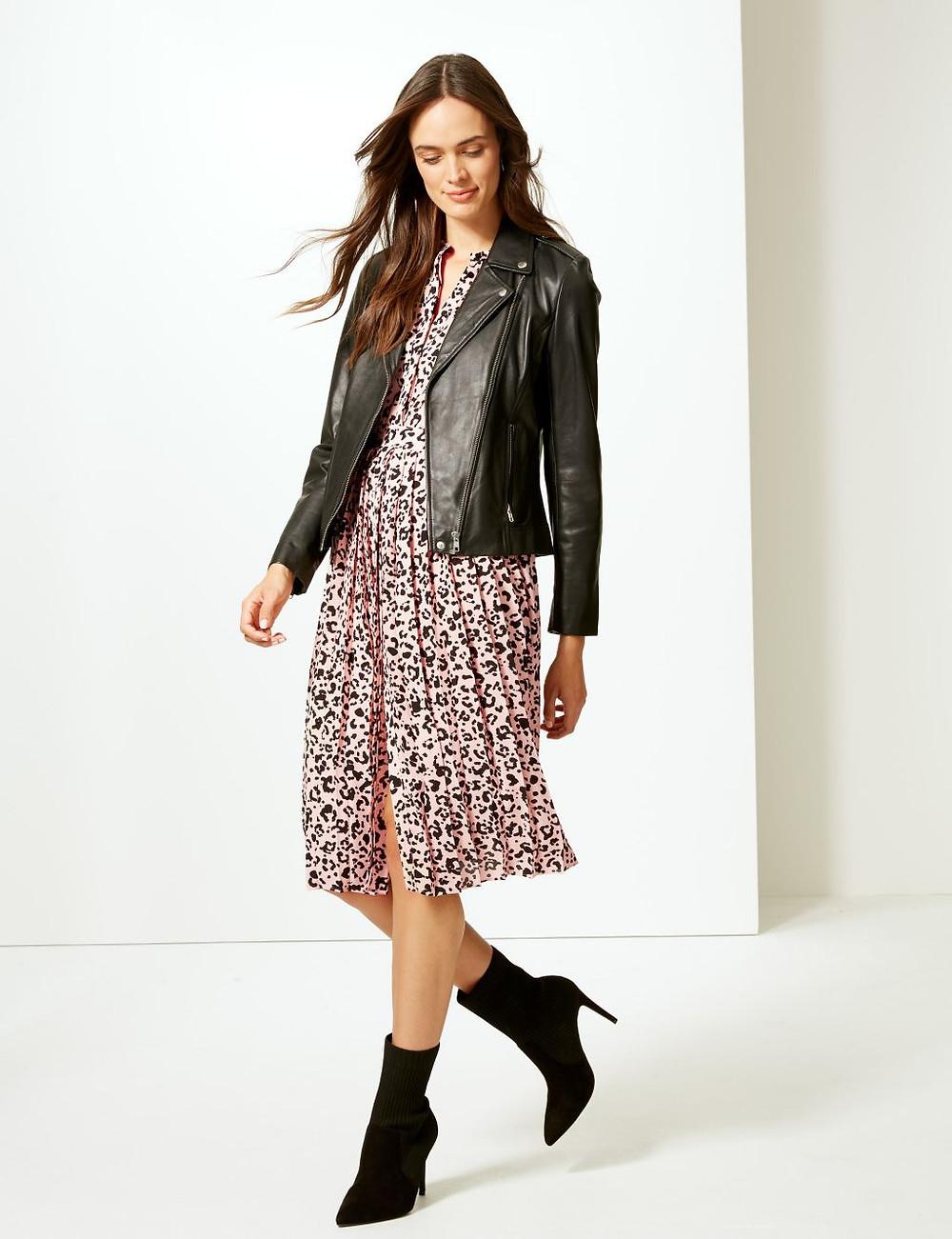 Marks and Spencer Midi Leopard print dress