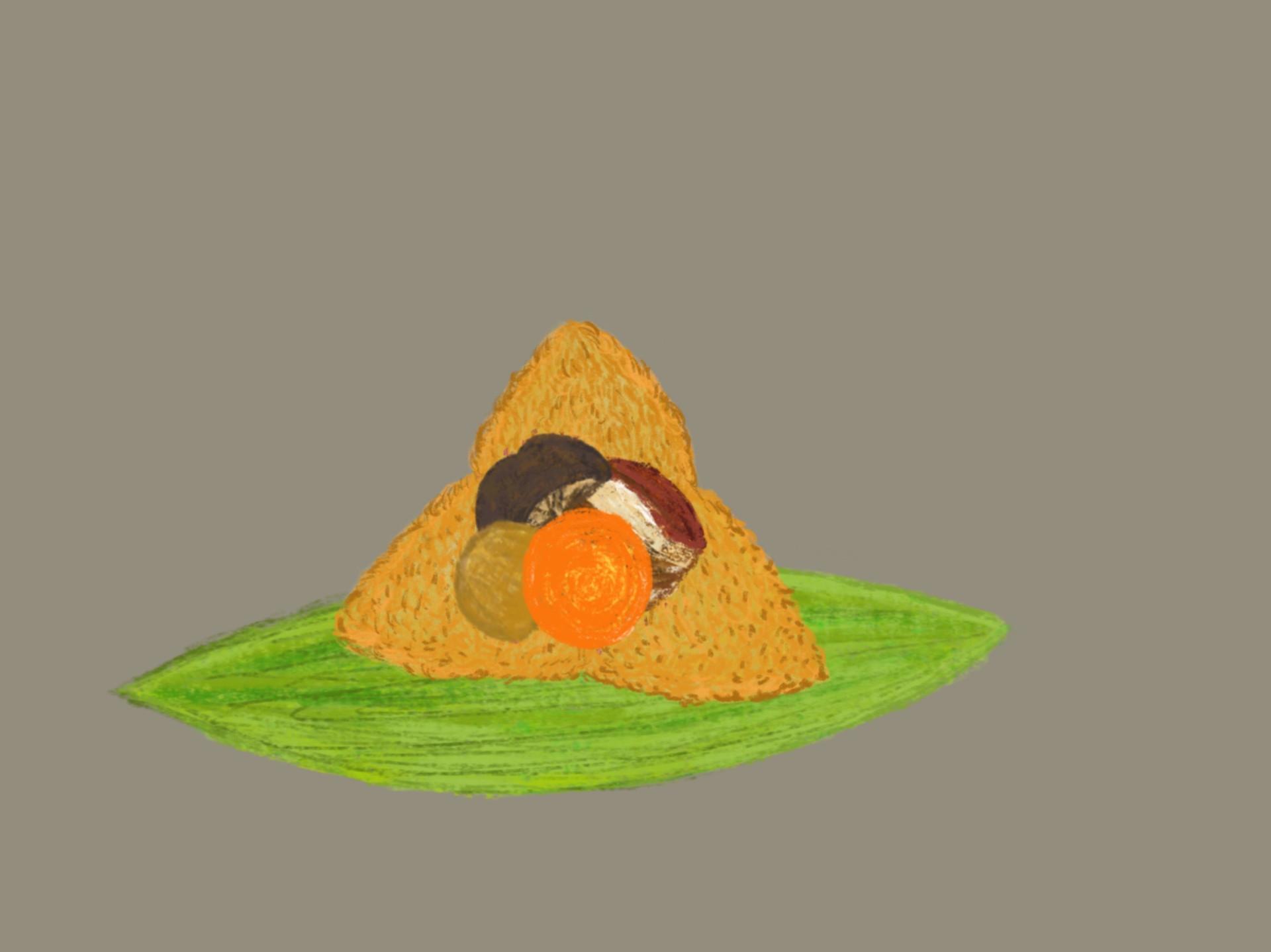 鹹蛋黃肉粽
