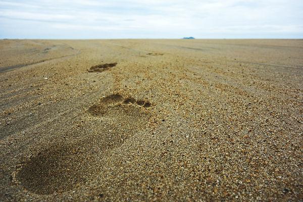 Barfuß Schritte Strand Meer Bild Flyer.jpeg