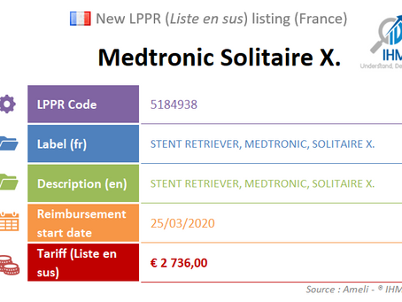 New listing (France) : #Medtronic #SolitaireX