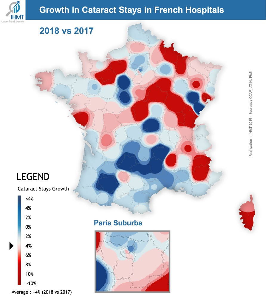 Growth in Cataract Stays in French Hospitals - Croissance des séjours chirurgie de la cataracte en France
