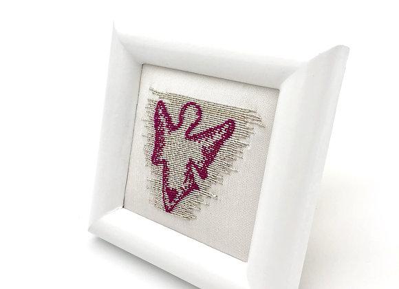 "Wall Decor ""Guardian Angel ""pink wings'' Silber"