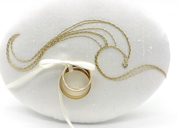 "Ringpolster - ""Perfekte Welle"" Gold  & Brillant"