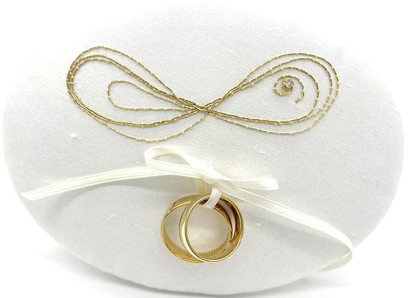 "Ringpolster - ""Infinity"" Gold & Brillant"