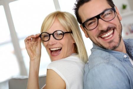 18939654 - middle-aged couple wearing eyeglasses