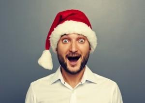 surprised christmas guy