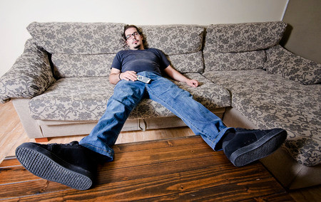 Lazy couch potato