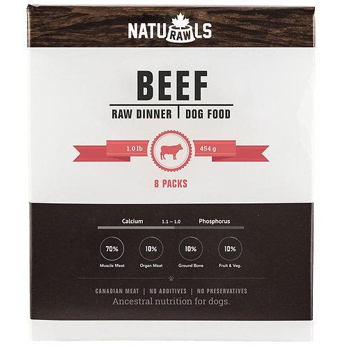 Naturawls Raw Beef & Veggie 8/454GM