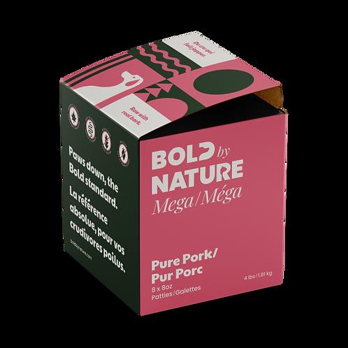 Bold by Nature Dog Mega Pure Pork Patties 4 lb