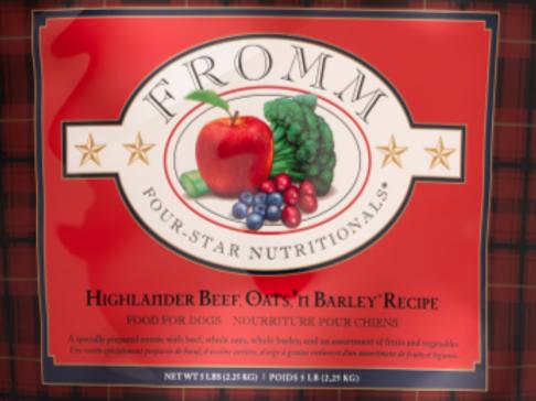 Fromm Dog Four-Star Highlander Beef Oats & Barley