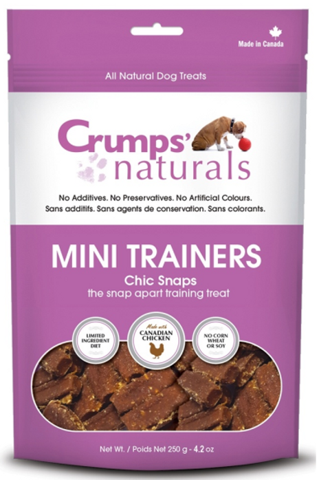 Crumps' Naturals Dog Mini Trainers Chic Snaps 4.2 oz