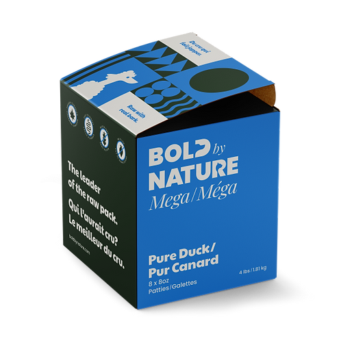 Bold by Nature Dog Mega Pure Duck Patties 4 lb