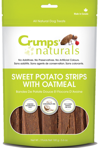 Crumps' Naturals Dog Sweet Potato Strips with Oatmeal 5.6 oz