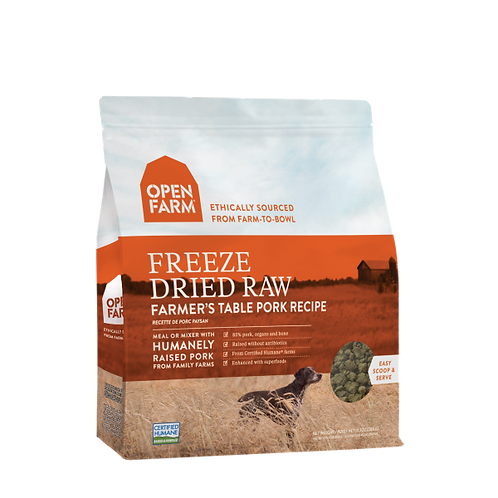 Open Farm Dog Freeze Dried Raw Farmer's Table Pork