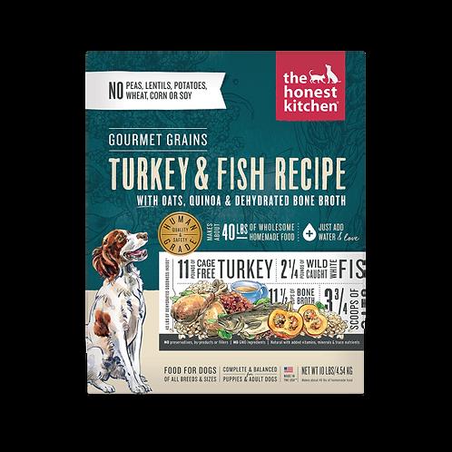 HK Dog Dehydrated Gourmet Grains Turkey & White Fish
