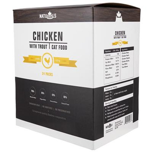 Naturawls Raw Chicken & Trout 24/113GM | Cat