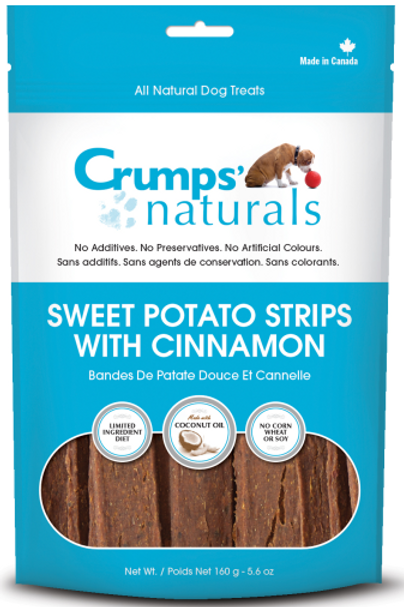Crumps' Naturals Dog Sweet Potato Strips w/Cinnamon 5.6 oz