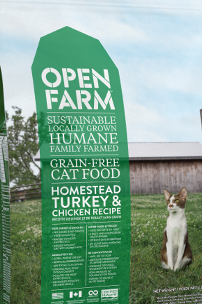 Open Farm Cat Homestead Turkey & Chicken 8 lb