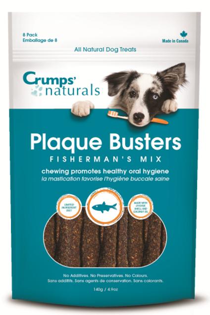 "Crumps' Naturals Dog Plaque Busters Fisherman's Mix 7"" 8 pk"
