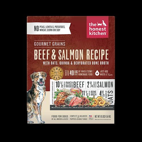 HK Dog Dehydrated Gourmet Grains Beef & Salmon