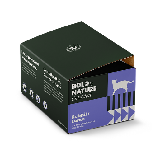 Bold by Nature Cat Rabbit Patties 3 lb