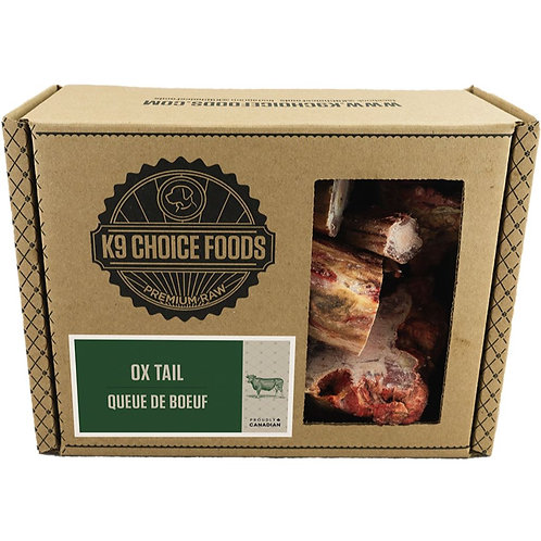 K9 CHOICE Frozen -Raw Ox-Tail 680GM