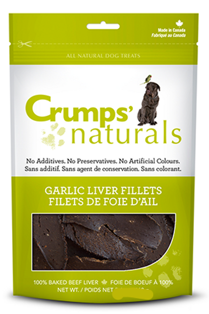 Crumps' Naturals Dog Garlic Liver Fillets 2.4 oz
