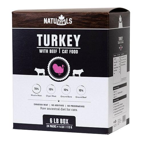 Naturawls Raw Turkey & Beef 24/113GM | Cat