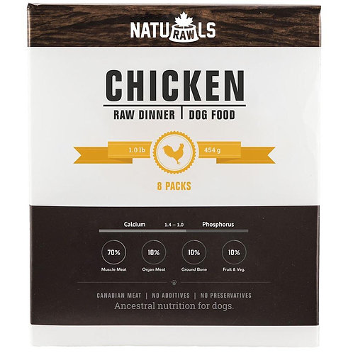 Naturawls Raw Chicken & Veggie 8/454GM