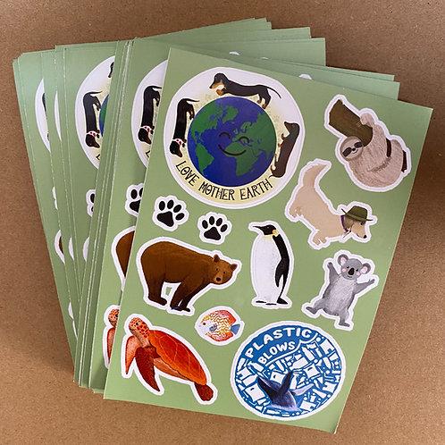 Sausage Squad Eco Sticker Sheets