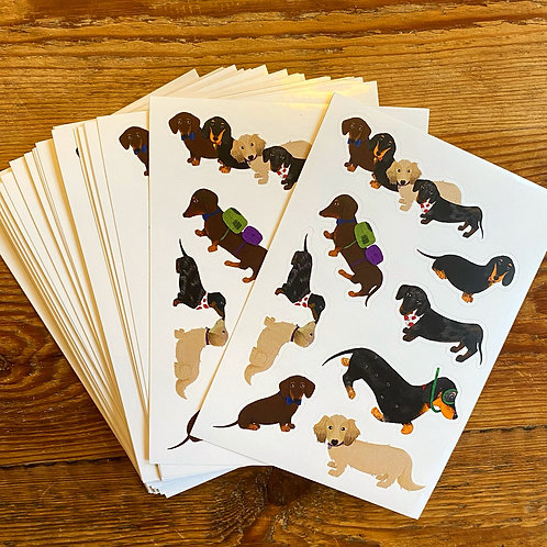 The Sausage Squad Sticker Sheet