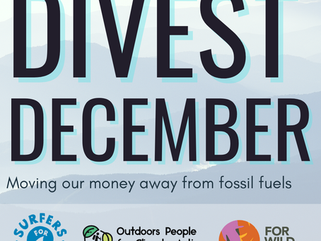 LAUNCH: Divest December - Moving Our Money Away From Fossil Fuels