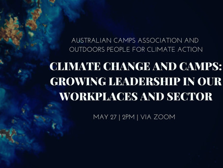 Climate change and camps: growing leadership in our workplaces and sector