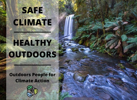 Outdoors People for Climate Action | Newsletter #1 | 2 April 2020