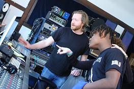 CrotonaIHS Students at a Recording Studio