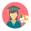 An Image Showing a Student with a Graduation Cap on